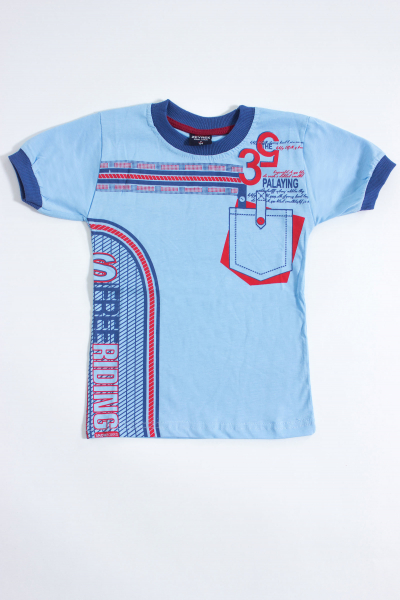 Футболка для мальчика, артикул: BOR8486, цвет - голубой