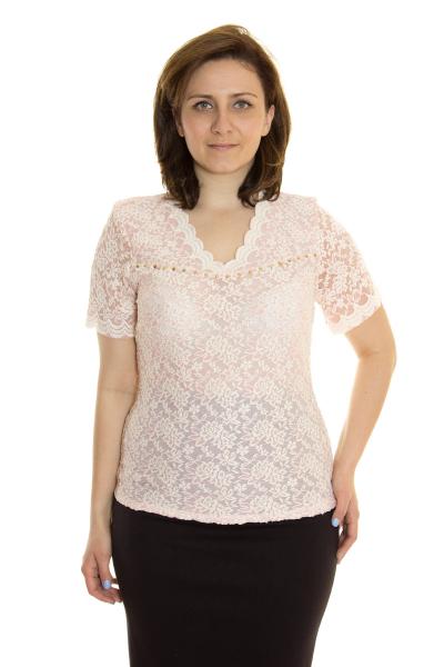 Блузка, артикул: 3477, цвет - персиковый