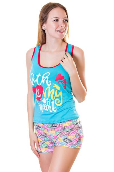 Пижама, артикул: XP1783, цвет - голубой