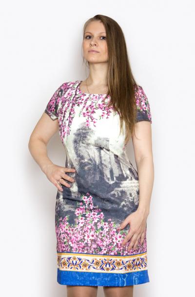 Платье, артикул: KL0677, цвет - многоцветный