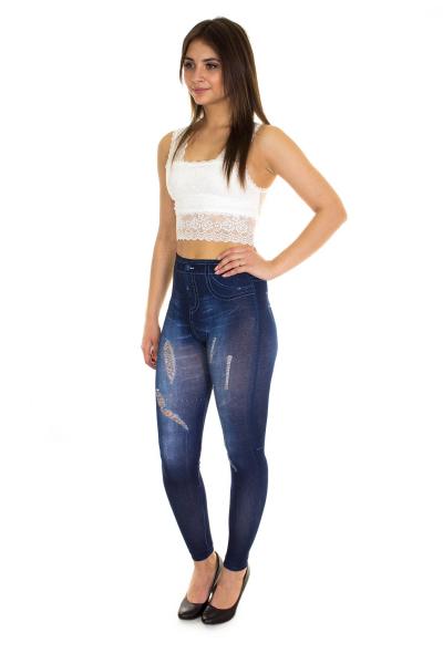 Легинсы, артикул: DS0802, цвет - джинсовый