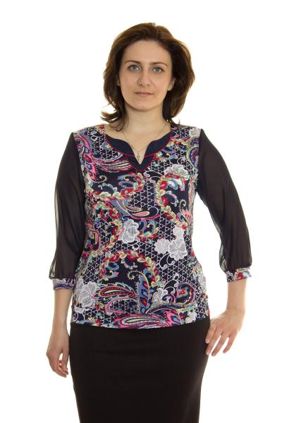 Блузка, артикул: 4053, цвет - многоцветный