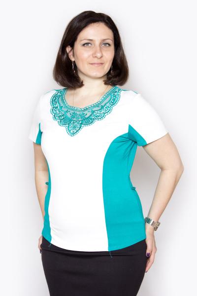 Блузка, артикул: V0199, цвет - изумрудный