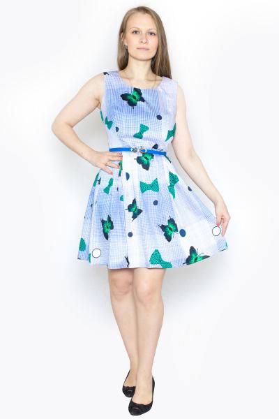Платье, артикул: KL0683, цвет - голубой