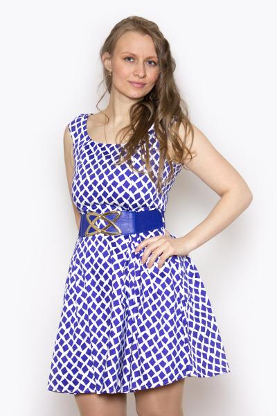 Платье, артикул: KL0512, цвет - синий