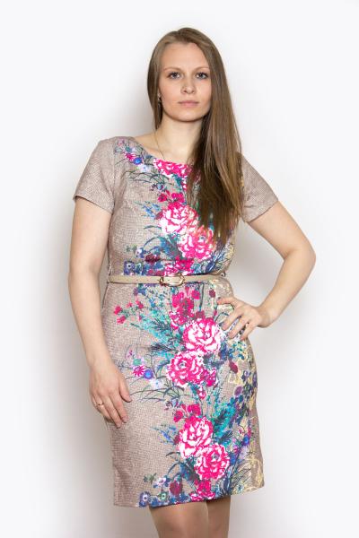 Платье, артикул: KL0680, цвет - бежевый