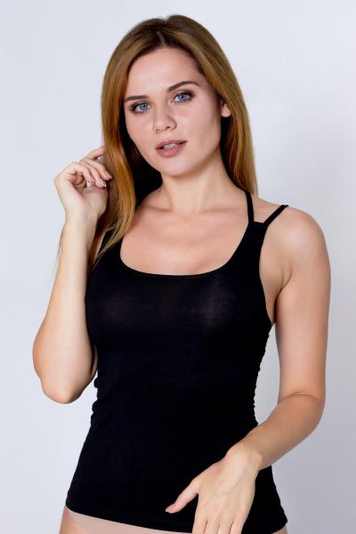 Топ женский, артикул: YZ5094, цвет - черный