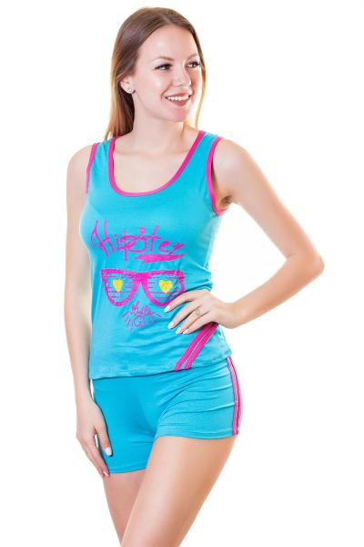 Пижама, артикул: XP1825, цвет - голубой