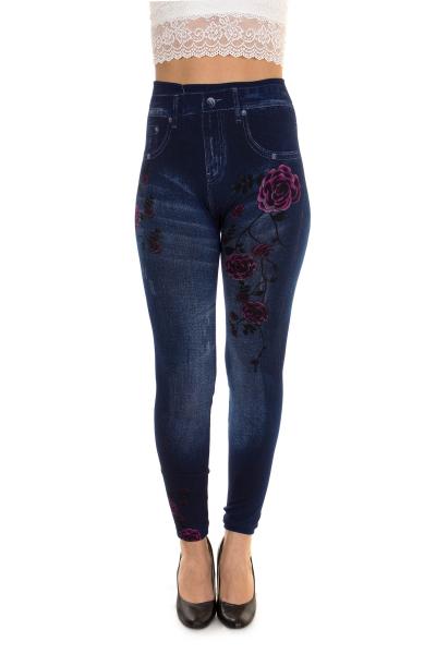 Легинсы, артикул: SN2010, цвет - джинсовый