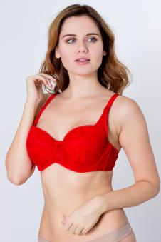 Бюстгальтер, цвет - красный