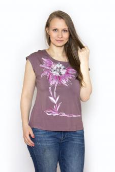 Блузка, цвет - коричневый