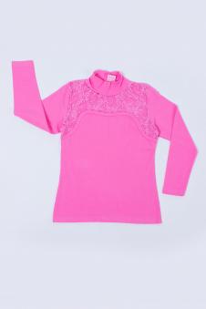 Водолазка для девочки, цвет - розовый