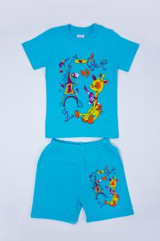 Костюм для девочек, цвет - голубой