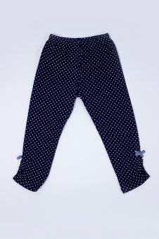 Капри для девочек, цвет - т.синий