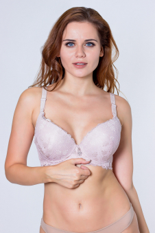 Бюстгальтер, цвет - грязно-розовый