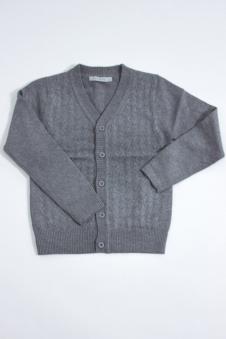 Джемпер для мальчика, цвет - т.серый