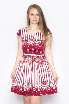 Платье, цвет - бордовый