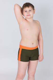 Плавки для мальчиков, цвет - т.зеленый