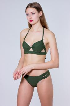 Купальник, цвет - т.зеленый
