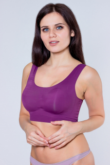 Топ женский, цвет - пурпурный