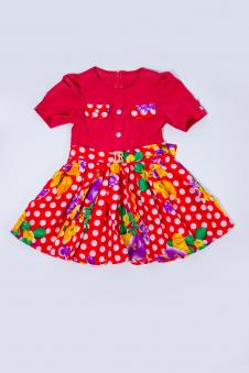 Платье, цвет - коралл