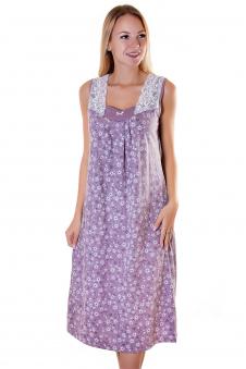 Сорочка, цвет - лиловый