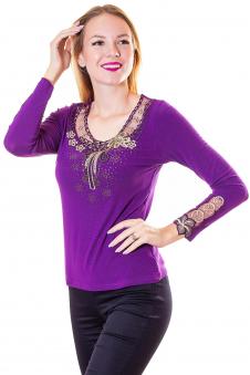 Блузка, цвет - фиолетовый