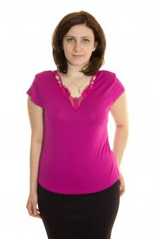 Блузка, цвет - брусничный