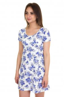 Ночная сорочка, цвет - синий