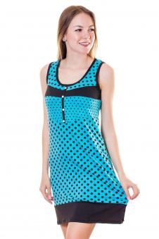 Сорочка, цвет - голубой