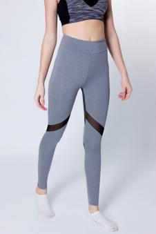 Легинсы спорт, цвет - серый