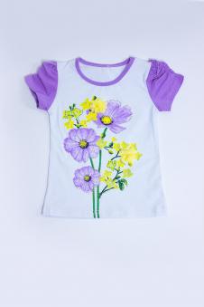 Футболка для девочки, цвет - фиолетовый