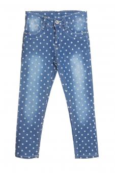 Джинсы для девочки, цвет - джинсовый_0