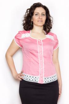 Блузка, цвет - розовый