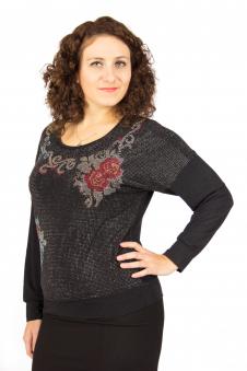 Блузка, цвет - т.серый