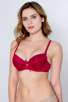 Бюстгальтер, цвет - бордовый