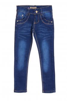 Джинсы для девочки, цвет - джинсовый