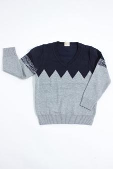 Джемпер для мальчика, цвет - серый