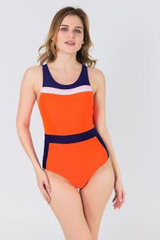 Купальник спортивный, цвет - оранжевый