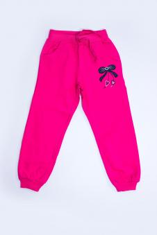 Брюки для девочки, цвет - розовый
