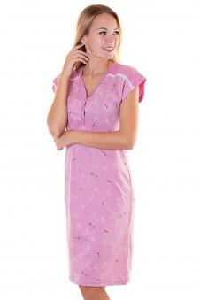 Сорочка, цвет - брусничный