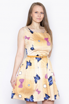 Платье, цвет - горчица