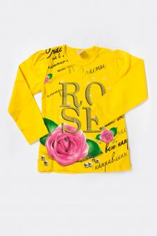 Толстовка для девочки, цвет - желтый