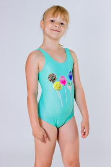 Купальник детский, цвет - бирюзовый