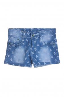 Шорты для девочки, цвет - джинсовый