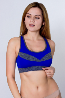 Топ спортивный, цвет - синий
