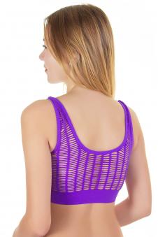 Топ спортивный, цвет - фиолетовый_0
