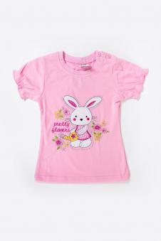 Футболка для девочки, цвет - розовый