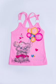 Майка для девочки, цвет - розовый