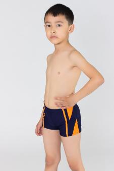 Плавки для мальчиков, цвет - т.синий-оранж